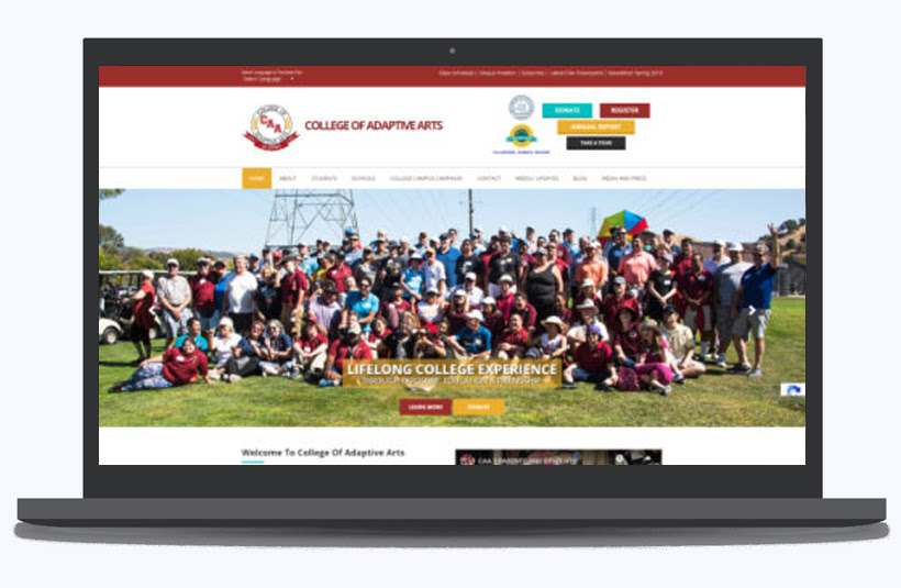 College of Adaptive Arts Advantage Aviation website beautifully designed by Panalo Software Solutions