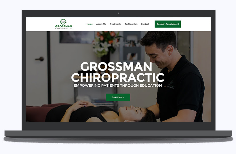 Example of a good website design is Grossman Chiropractic Website of Dr. Michael Grossman's website which is a website made by Panalo